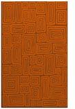 rug #293233 |  red-orange retro rug