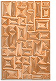 rug #293237 |  red-orange retro rug