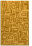 rug #293273 |  light-orange retro rug