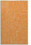 rug #293285    orange retro rug