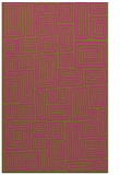 rug #293297 |  light-green retro rug