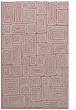 rug #293309 |  pink retro rug