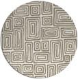 rug #293321 | round beige retro rug