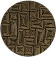 rug #293341 | round brown rug