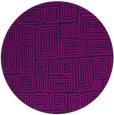 rug #293349 | round pink retro rug