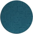 rug #293369 | round blue-green retro rug