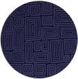 rug #293405   round blue-violet retro rug