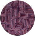 rug #293413 | round pink retro rug