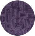 rug #293417   round blue-violet retro rug