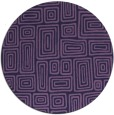 rug #293417 | round purple retro rug