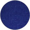 rug #293425   round blue-violet retro rug