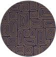rug #293429 | round blue-violet rug