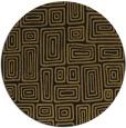 rug #293437 | round mid-brown retro rug