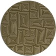rug #293441 | round brown retro rug