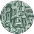 rug #293453 | round blue-green rug