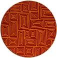 rug #293509 | round orange retro rug