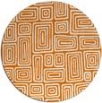 rug #293513 | round orange retro rug