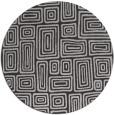 rug #293521 | round red-orange retro rug
