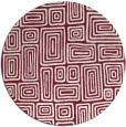 rug #293533 | round pink retro rug