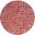 rug #293561 | round red retro rug