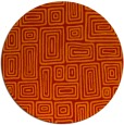 rug #293565 | round red rug