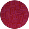 rug #293573 | round red rug