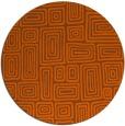 rug #293585 | round red-orange retro rug