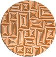 rug #293589   round red-orange retro rug