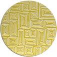 rug #293621 | round yellow retro rug