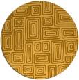 rug #293625 | round yellow retro rug