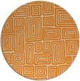 rug #293637 | round orange retro rug