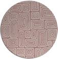 rug #293661 | round pink retro rug