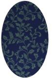 rug #294409   oval blue-green natural rug