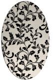 rug #294453 | oval blue-green natural rug