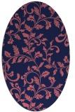 rug #294469 | oval pink natural rug