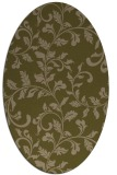 rug #294497 | oval mid-brown natural rug