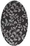 rug #294577 | oval orange natural rug