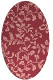 rug #294593   oval pink rug
