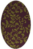 rug #294605   oval purple natural rug
