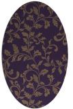 rug #294609 | oval mid-brown natural rug