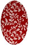 rug #294617   oval red natural rug