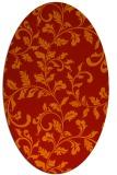 rug #294621 | oval orange popular rug