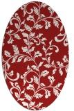 rug #294625   oval red natural rug