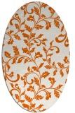 rug #294645 | oval red-orange popular rug