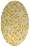rug #294665 | oval yellow natural rug