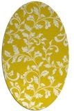 rug #294677   oval yellow natural rug