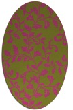 rug #294705 | oval light-green natural rug