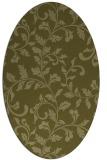 rug #294709   oval light-green rug