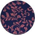 rug #295173 | round blue-violet rug