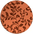 rug #295281   round red-orange natural rug
